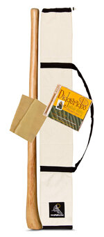 Medium Size Natural Finish Didgeridoo Starter Pack